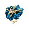 Кольца с бриллиантами из розового золота с 18-сантиметровым покрытием Golds Golds воспользуйтесь австрийскими ювелирными изделиями из кристаллов