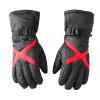 Yu Zhaolin (YUZHAOLIN) перчатки мужские зимние ветрозащитные перчатки плюс бархат толстые теплые холодные велосипедные перчатки унисекс лыжи утолщены X черный и красный перчатки stella перчатки
