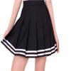 Lovaru ™2015 Новый Мода женские школы в стиле черно случайные плиссированные мини-юбки Модные юбки нашивки прекрасный стиль женские юбки в розницу