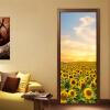 Фото обои Красивые Подсолнечник 3D Настенная роспись Спальня Гостиная Дверь Декор Стикер ПВХ Бумага Главная Декор 70см x 200см
