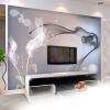Пользовательские обои Mural Персонализированные Нетканые обои для стен Абстрактные современные минималистичные черно-белые обои для ТВ