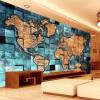 Индивидуальный размер Европейский стиль 3D-карта мира Фотообои для обоев для гостиной Учебная комната Абстракция Художественный декор Обои научно учебная литература