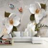 Обои для рабочего стола 3D Стерео Рельеф Цветы Бабочка Фреска Современная Простая Гостиная Телевизор Диван Фон Стена Бумага для 3 D телевизор