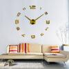 3D настенные часы безрамные Современные зеркальные металлы Большие настенные наклейки Часы настенные часы Room Home Decorations часы настенные magic home часы настенные дом