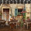Пользовательские фотообои Vintage британские здания большой росписи чайный магазин пекарня фон обои фрески educa пазл пекарня