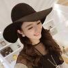 Новый женщин Леди Винтаж войлок дискеты в Fedora шляпа с широкими полями котелок крышкой черный дискеты 5 25 в туле