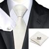 Н-1174 моде мужчины Шелковый галстук набор галстук платок Запонки из слоновой кости Цветочный набор галстуков для мужчин формальных Свадебный бизнес оптом оптом крепление для авторегистратора