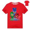 Мультфильм Футболка PJ MASKS Футболка с коротким рукавом Детская одежда для девочек Детская одежда Мальчики Хлопок Летние тисы Дет детская одежда