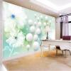 Пользовательские обои Mural Modern 3D Абстрактное искусство Прозрачная роспись цветов на стенах Гостиная ТВ Обои для рабочего стола Домашний декор