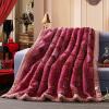 Brata Свадебное одеяло Шелковая ленточная вышивка Утолщенная оправа Raschel