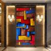 3D-фото обои Европейские масляной живописи красочные абстрактные геометрические фоны обои фрески