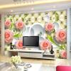 Пользовательские обои для фото Розовая кожа 3D-роспись настенной бумаги для гостиной Обои для рабочего стола Домашний декор Papel De Parede 3D пользовательские обои с настенной росписью 3d lotus flower европейский стиль искусство настенной живописи гостиная tv background mural papel de parede 3d