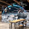 Пользовательские фото стены Бумага 3D Стерео мультфильм Shock Звездные войны Mural Kid's Room Cafe KTV Заставка Обои для стен 3 D Papel Tapiz пользовательские обои для фото 3d стерео ретро обои для рабочего стола ktv room casual cafe