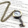 Ретро старинные карманные ключ-образная часы ожерелье Кулон настенная Диаграмма
