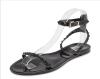 Аканэ летом смешанные конфеты конфеты обувь заклепки женские сандалии подвергаются пальцы ноги мулы тапочки дома черный и белый па конфеты