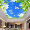 Голубое небо. Белые облака. Зеленые листья. Голуби. Потолочные фрески. Пользовательские фото. Бумага. голубое небо белые облака зеленые листья голуби потолочные фрески пользовательские фото бумага