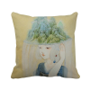 Hats Beauty Chinese Antique Illustrator Polyester Toss Throw Pillow Square Cushion Gift