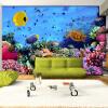 Пользовательские фото обои большой росписи 3D гостиная комната спальня телевизор диван фон обои синяя морская роспись пользовательские 3d росписи обои гостиная комната ванная комната ванная комната ретро украшенные бриллиантами кристаллы