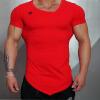 Мужская спортивная одежда Братья Мужская одежда Наружная беговая тренировочная футболка Тонкая эластичная дышащая короткая втулка мужская одежда