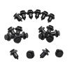 Racing 20pcs Plastic Black Bumper Fastener Retainer Push-Type Fender Clip 1 5 rc car racing parts alloy rear fender bumper for baja t1000gt