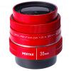 Pentax (PENTAX) DA 35mm F2.4 с фиксированным фокусом линзы покрытие натуральный красный перспективный SP объектив pentax smc da 50mm f 1 8