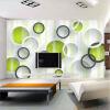 Пользовательские 3D-обои Mural Современная европейская гостиная ТВ-фон Нетканые обои Обои Облицовочные покрытия Геометрические круги