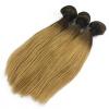 12~30 3pc Dark Root Black Blonde Brazilian Virgin Hair Silky Straight Weave Natural Hair Weave Human Hair Weave Extension best new product on sale 30% 750ml brazilian keratin hair treatment hair free shipping