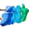 Ручной натуральный шелковый поклонник танца живота 1xleft+правая рука 180x90cm Королевский синий + бирюзовый + зеленый мицелий грибов шампиньон королевский субстрат объем 60 мл