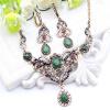 Серьги-серьги из ожерелья из нержавеющей стали с бриллиантами из нержавеющей стали