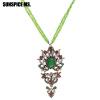 Модный турецкий бусины с бусинками Длинные подвесные ожерелья Античные золотые цвета Смола Этнические цепи ожерелья Индийские анти