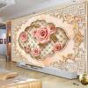 Пользовательские настенные панно европейский стиль 3D тисненый нетканый розовый цветок фото обои для гостиной ТВ фон стены картины белый лошадь сломанной стены фото murals 3d современный творческий интерьер домашний декор обои стерео тисненый нетканый 3d wall painting