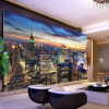 Пользовательские обои для рабочего стола Европейский стиль 3D стереоскопический номер в Нью-Йорке Спальня Гостиная Телевизор Фон Фото Обои Домашний декор