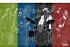 3D фото обои Корейский арт граффити обои концерт инструмент танцевальная комната фон украшение роспись обои kraftwerk 3 d концерт