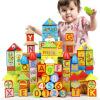 DanNiQiTe Развивающие игрушки Большие детские кубики 12 зодиакальных знаков года рождения 1-3-6 лет 160 кусков CDN-4138 развивающие деревянные игрушки кубики овощи