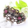 Этнические женщины браслет браслет браслет античные золото цвет смолы турецкие ювелирные изделия Rhinestone Bangles дамы банкет св