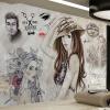 Пользовательские обои для фото Современная мода Ручная роспись Красота Парикмахерская Магазин Инструменты Фон Обои для стен Декорации Papel De Parede 3D