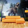 Пользовательские 3D-обои для фото Лес Динозавр Стереоскопическая гостиная Диван-телевизор Фон Обои для стен Картина Большие обои Mural т мные обои для стен где