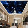 Пользовательский большой бесшовный мозаичный потолок Zenith Mural Обои 3D Стерео Звездное небо Ландшафт Стены Картина Гостиная Домашний декор