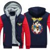 2018 New Marvel Superhero Справедливость Лига Wonder Woman Cosplay Coat Молния Hoodie Зимняя Руна Unisex Thicken Jacket woman coat 90