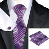 n-0791 Vogue мужчин шелковым галстуком набор пурпур новинка галстук платок запонки набор связей для мужчин официальный свадебный бизнес оптом
