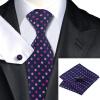 n-0799 Vogue мужчин шелковым галстуком набор розовый горошек галстук платок запонки набор связей для мужчин официальный свадебный бизнес оптом оптом крепление для авторегистратора