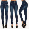 S - XXL 2016 Skinny Thin High Waist Pencil Pants Women Elastic Sexy Denim Jeans Trousers hanlu spring hot fashion ladies denim pants plus size ultra elastic women high waist jeans skinny jeans pencil pants trousers