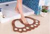 Коврик для ванной без скольжения Большие ноги Душевые коврики для душа Коврик для ковров Абсорбирующий коврик для пола (40 * 60 коврик для ванной 1100 г м² качество best