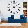 3D настенные часы безрамные Современные зеркальные металлы Большие настенные наклейки Часы настенные часы Room Home Decorations настенные часы русалочка