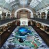 Бесплатная доставка ресторан ресторан украшения Ocean World носить водонепроницаемый пол обои mural 250cm x200cm морской ресторан