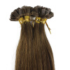 1g/s 100g Peruvian Remy Hair Color Golden Brown Straight Custom Capsule Keratin Flat Tip Nail U Fusion Full Human Hair Extension 1g s 100g malaysian remy hair color auburn straight custom capsule keratin flat tip nail u fusion full human hair extension