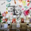 Пользовательские обои Mural 3D Мода Кирпичная стеновая косметика Живопись Fresco Маникюрный магазин Магазин одежды Backdrop 3D Art Wall Paper