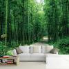Пользовательские 3D-обои для фото Пасторальные бамбуковые лесные пейзажи Обои для рабочего стола Диван для телевизора Фотография фона Обои для рабочего стола 3D бамбуковые обои каширский двор 3