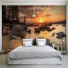 Пользовательские обои для фотографий Закат на море большой росписи обои HD гостиная ТВ фон настенный диван обои
