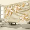 Пользовательские 3D-обои для фото Роскошные золотые украшения Цветы Гостиная Спальня Фон Обои Декоративная живопись Обои Домашний декор
